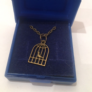 Gold Bird Cage Necklace
